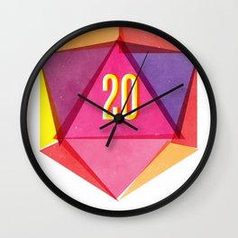 Rolling D20's Like A Big Shot  Wall Clock