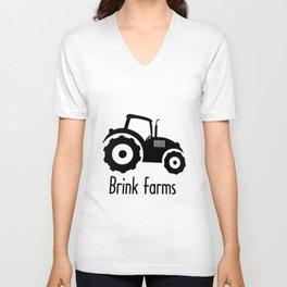 Baby TRACTOR FARM personalized boy or girl bodysuit creeper farm tee cow Unisex V-Neck