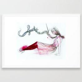 ink hair Framed Art Print