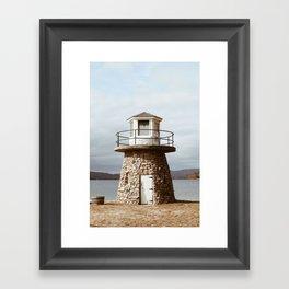 New England Lighthouse Framed Art Print