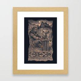 Beowulf Awaits the Fiend Framed Art Print