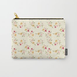 Wes Anderson Inspired Floral Bouquets Carry-All Pouch