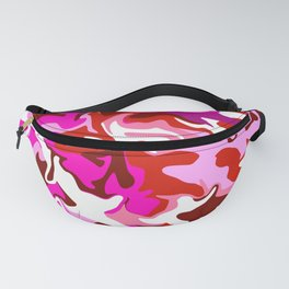 Mixed Berry Camo Fanny Pack