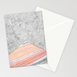 Concrete Arrow Pink Marble #289 Stationery Cards