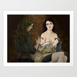 Destiel. Cassy and Deana Art Print