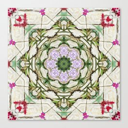 Orchids And Stone Wall Kaleidoscope 1764 Canvas Print