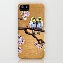 Cherry Blossom Chicks iPhone Case