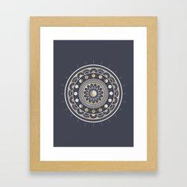 Winter Moon Mandala Framed Art Print