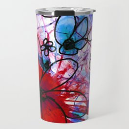 Bold Modern Flower Art - Wild Flowers 3 - Sharon Cummings Travel Mug