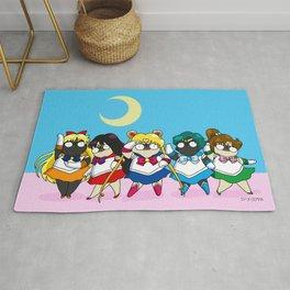 Sailor pugs Rug