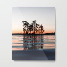 lake at sunset #society6 #decor #buyart Metal Print