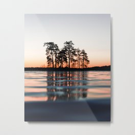 lake at sunset #society6 #decor #buyart Metal Print