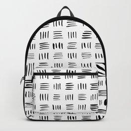 Lines on Lines // black Backpack