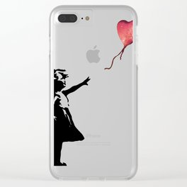 Banksy cosmic balloon Clear iPhone Case