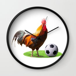 Cock Soccer Wall Clock