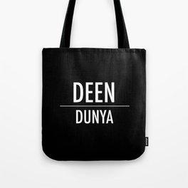 Deen Over Dunya x White Tote Bag