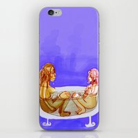 bath iPhone & iPod Skins featuring Bath by Mottinthepot