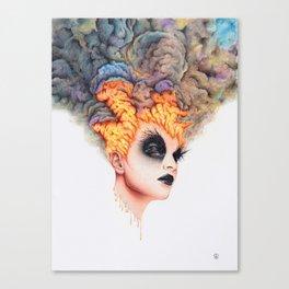 Burning Girl Canvas Print