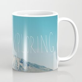 Never Stop Exploring: Mount Rainier Coffee Mug