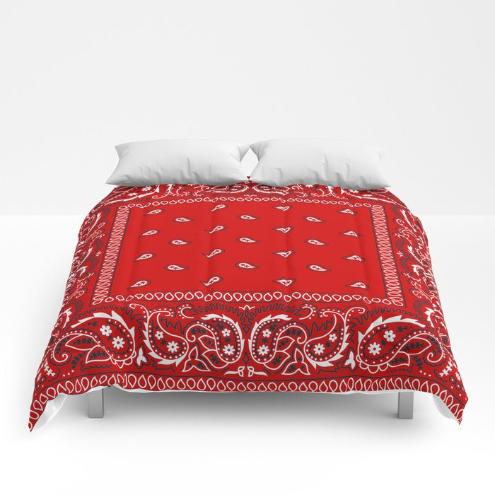 Paisley - Bandana - Red - Southwestern - Boho Comforters