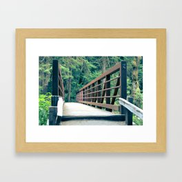 Marymere Falls Bridge 2 Framed Art Print