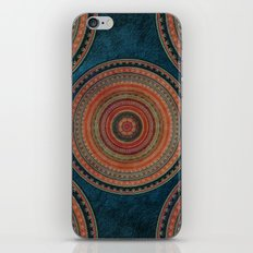 Earth Tone Colored Mandala iPhone Skin