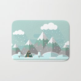 A Frame in the Mountains Bath Mat