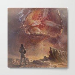 Shai-Hulud sandworm in storm Metal Print