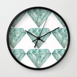 diamond pattern 1 Wall Clock