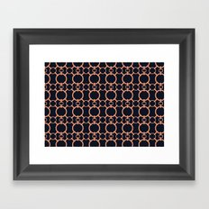 Simple Chainmail Framed Art Print