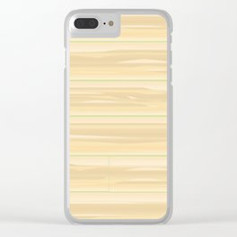 Pale Wood Background Clear iPhone Case