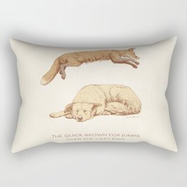 The quick brown fox jumps over the lazy dog Rectangular Pillow