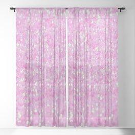 Pink Glitter Sheer Curtain