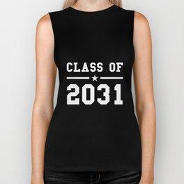 class of 2031 in the future back to school  teacher math Biker Tank