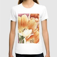 tulips T-shirts featuring Tulips by Kirsten Neil