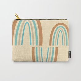 Parabolic Arch Wave 03 - Minimal Geometric Print Carry-All Pouch