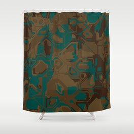 Peacock and Brown Shower Curtain