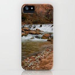 Virgin_River Falls 0898 - Zion Court iPhone Case
