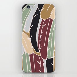 Modern Feathers Earth Tones iPhone Skin