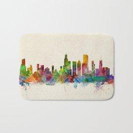 Chicago City Skyline Bath Mat