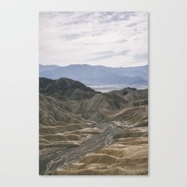 Death Valley: Zabriskie Point 2 Canvas Print
