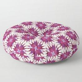 Salvia hispanica, purple pattern Floor Pillow