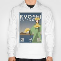 airbender Hoodies featuring Kyoshi Island Travel Poster by HenryConradTaylor