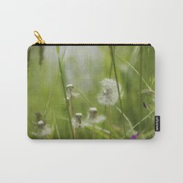 Three-Quarters of a Wish Left painterly Carry-All Pouch