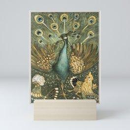 Art Nouveau Peacock Print Mini Art Print