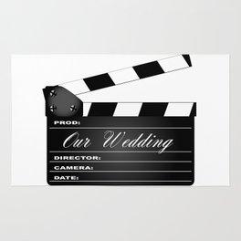 Our Wedding Clapperboard Rug