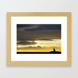 Sea sunset landscape Framed Art Print