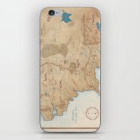middle earth iPhone & iPod Skins featuring Map of Middle Earth by Kaz Palladino