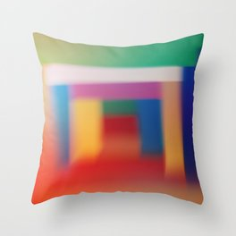 Colored blur background 3 Throw Pillow