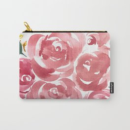 Red + Green Floral Carry-All Pouch